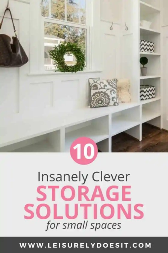 Entryway storage solutions for small spaces