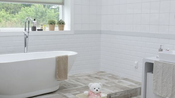 Declutter your bathrooms before moving.