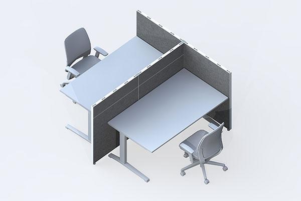 schallschutzwand büro konzept