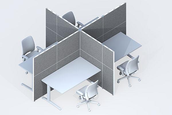 Sehr Schallschutzwand Büro: Weil Bürolärm krank macht VS08