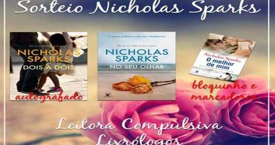 Promoção Nicholas Sparks com livro autografado!