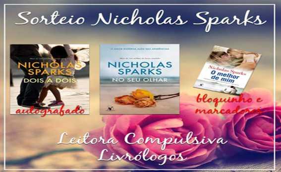 nicholas sparks promocao sorteio leitora compulsiva