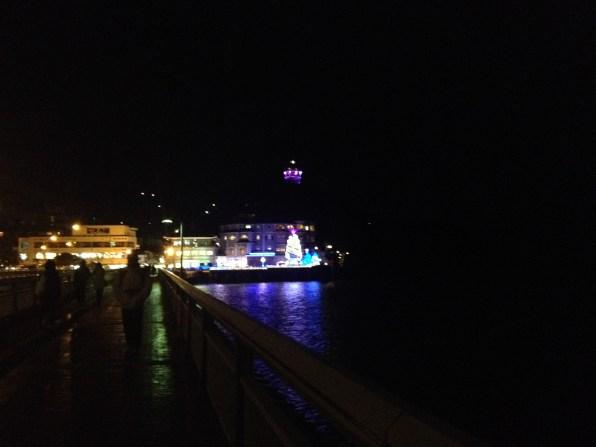 Vue nocturne du pont