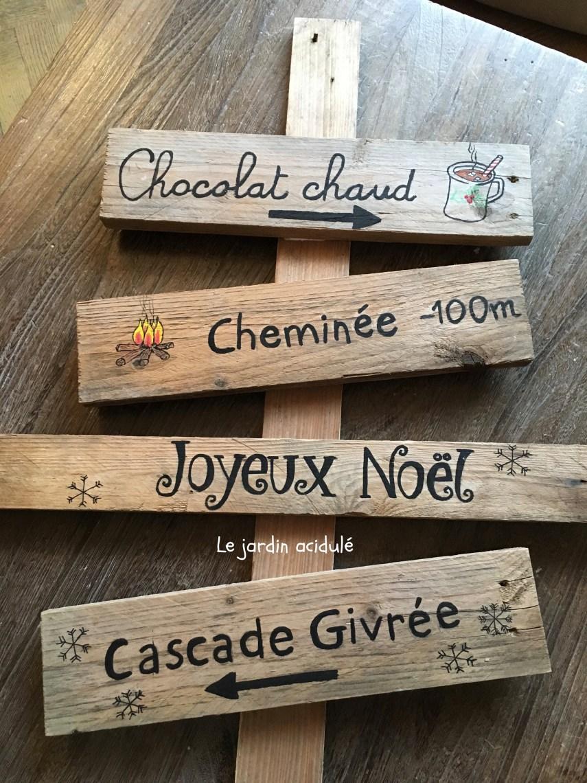 Christmas signpost – panneau indicateur pour le père Noël