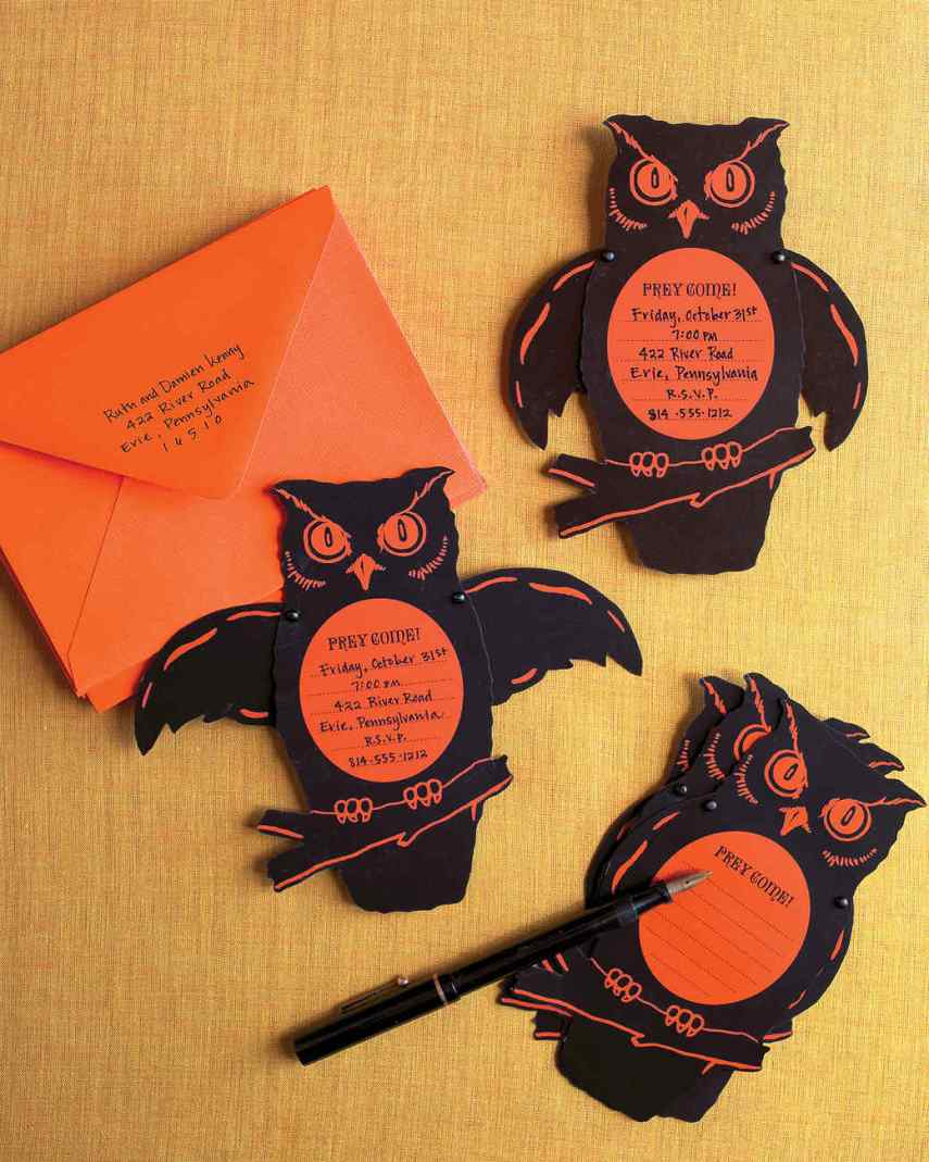 Handemade halloween invitation