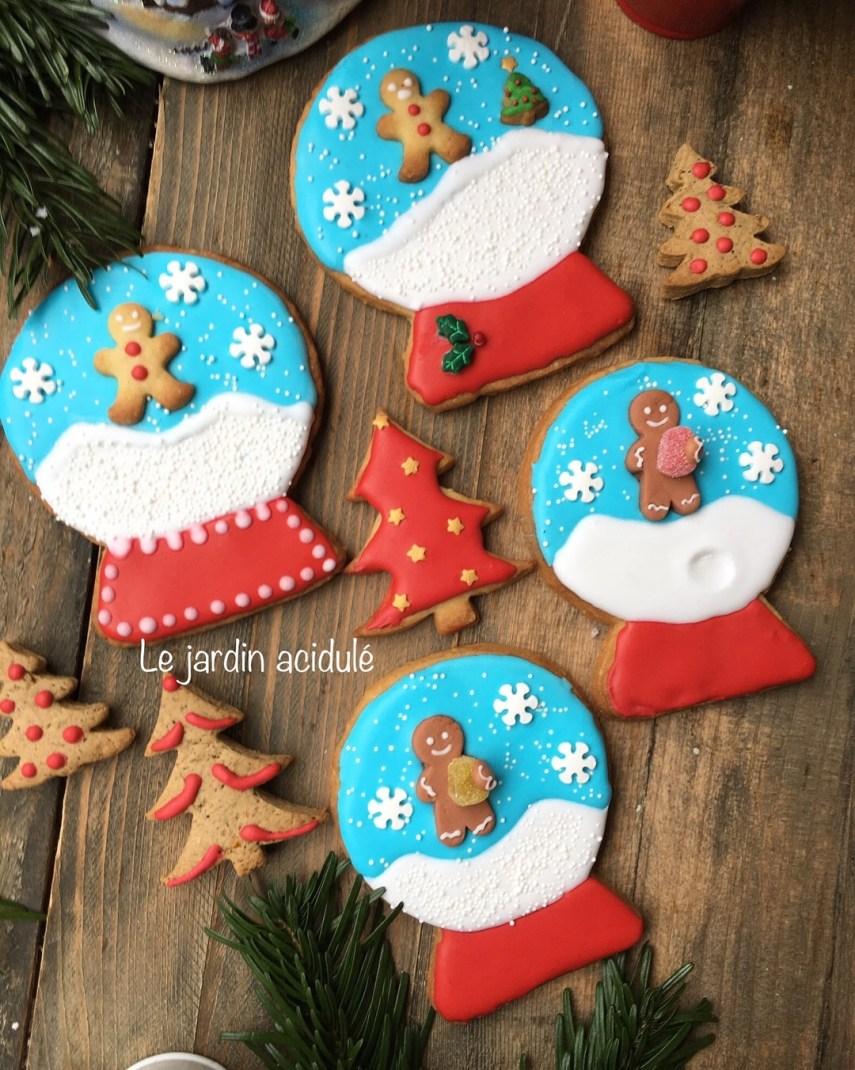 Biscuits de  Noël boule à neige