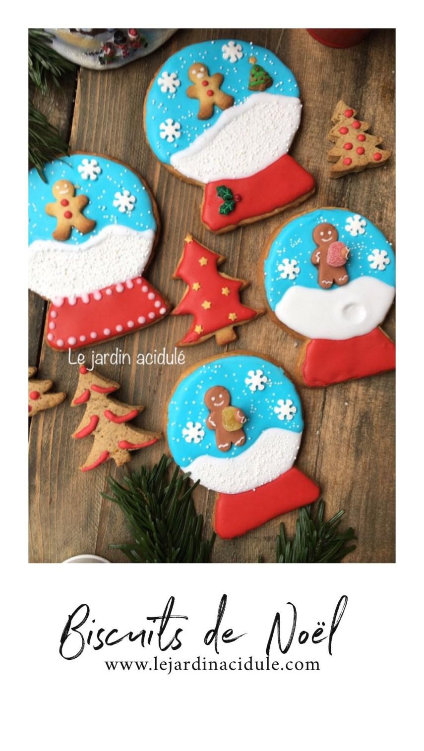 """Biscuits de Noël """"boule à neige"""""""