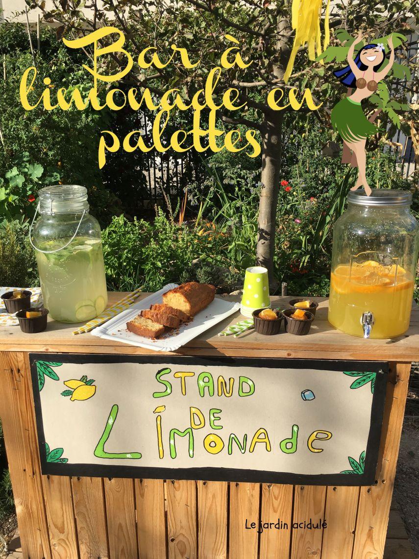 Bar à limonade en palettes