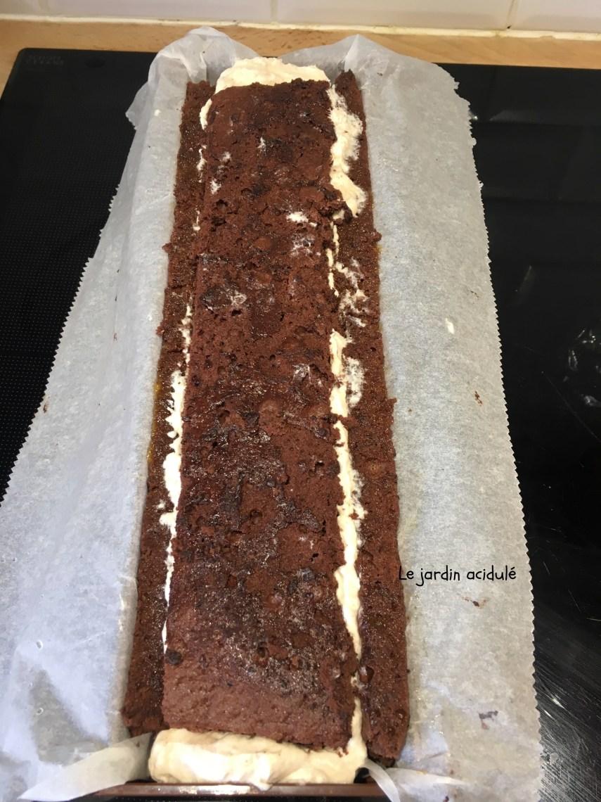bûche à la mousse de marrons