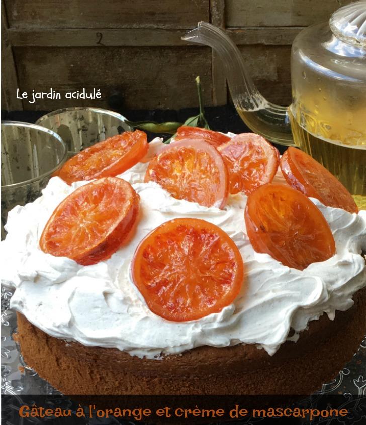 gâteau à l'orange et crème mascarpone