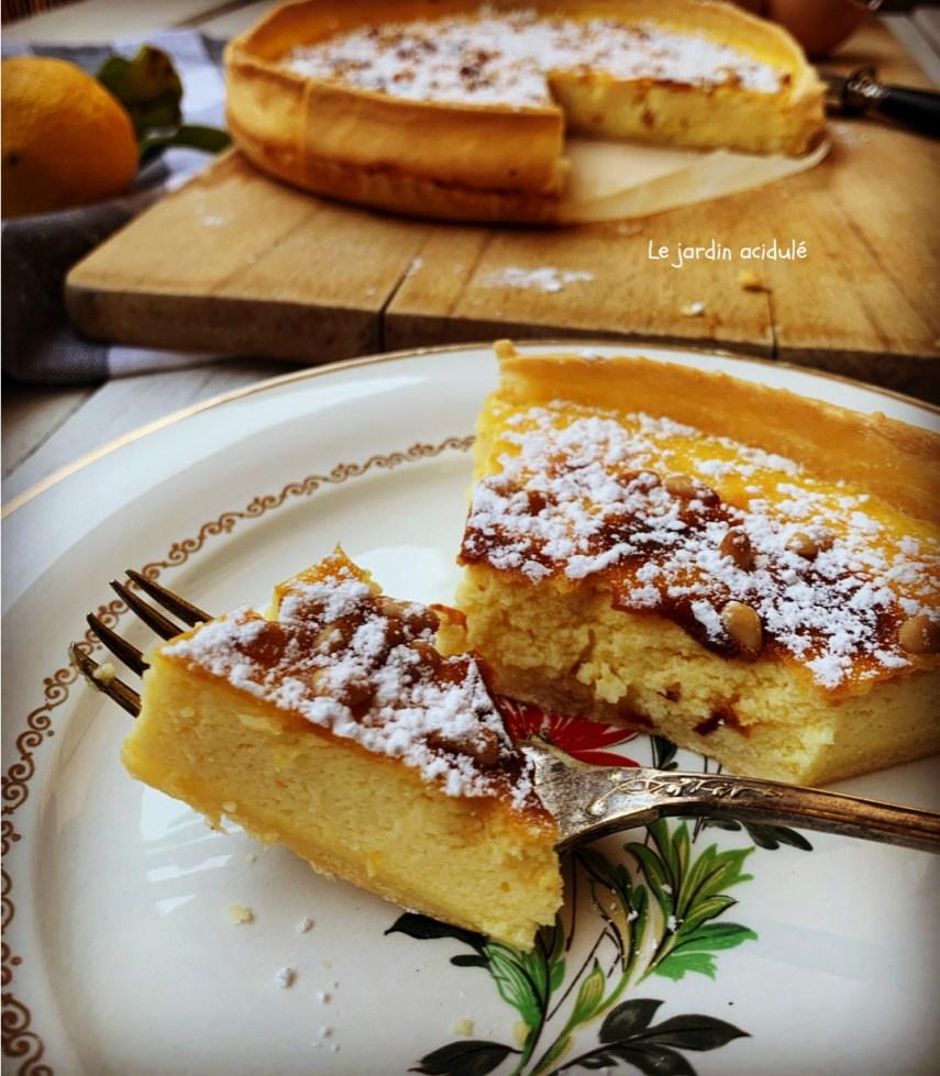 torta della nonna - tarte au citron