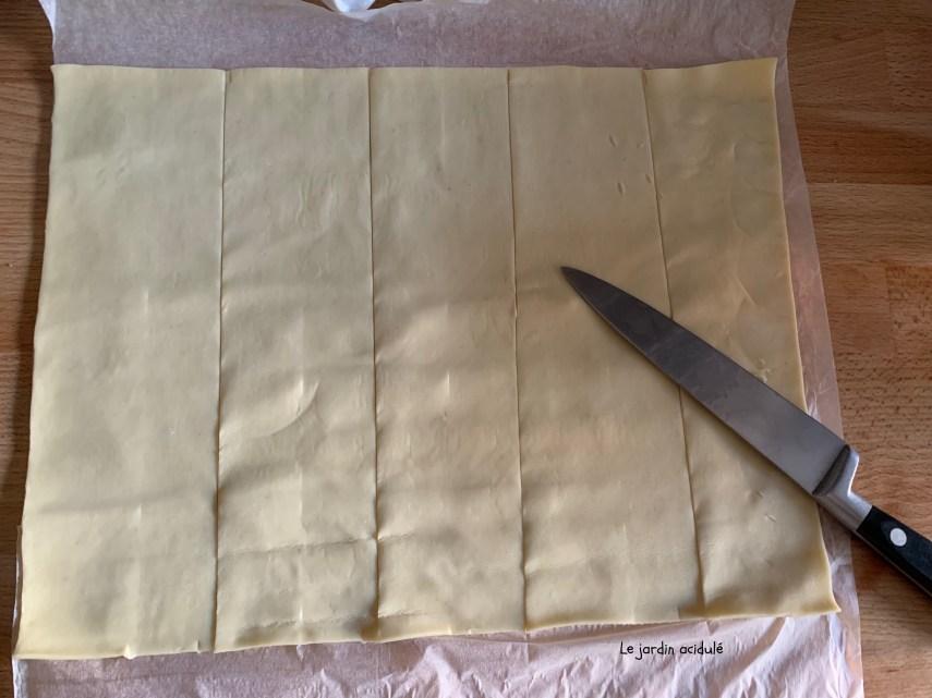 bandes de pâte feuilletée