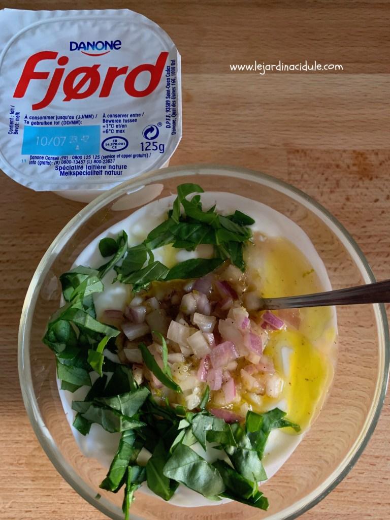 sauce yaourt