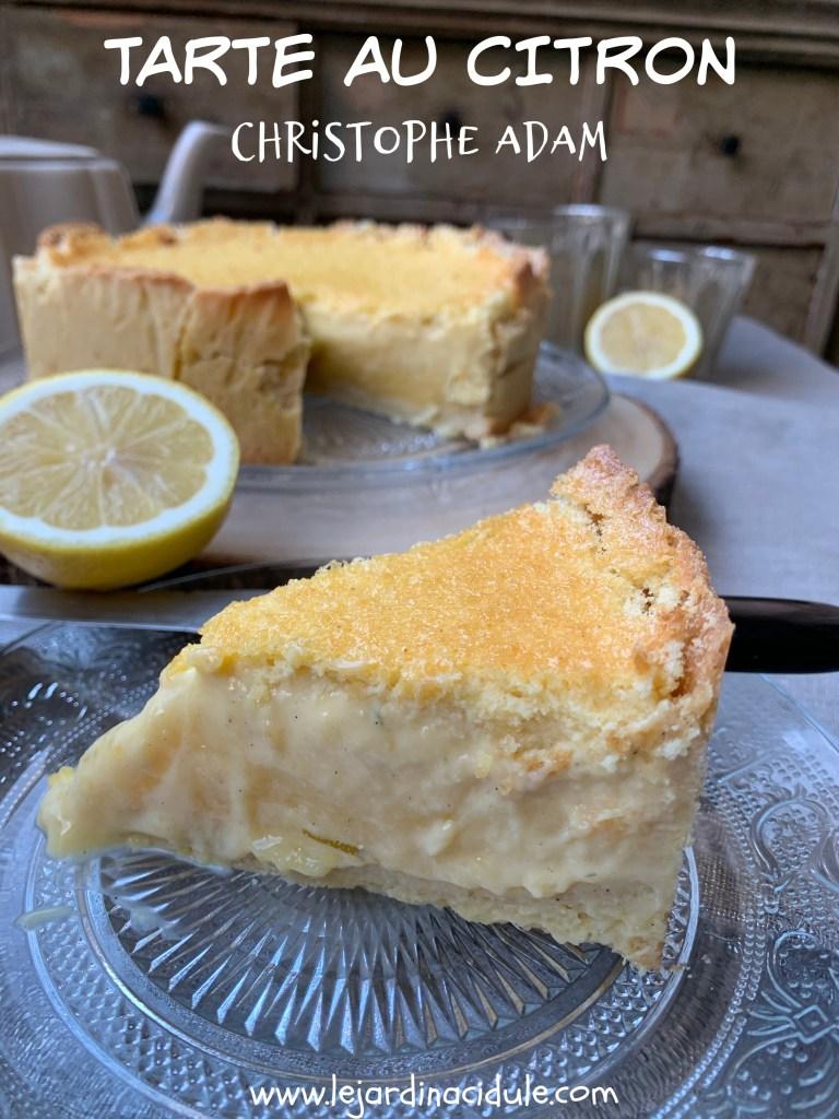 tarte aux citrons Christophe Adam