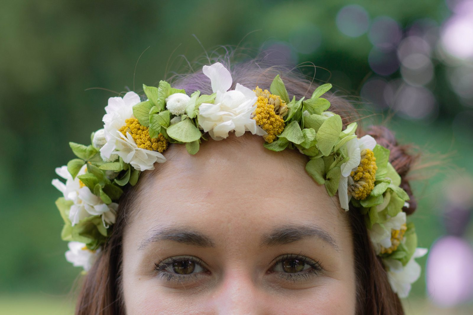 Le Jardin d'Audrey - green and yellow flower crown