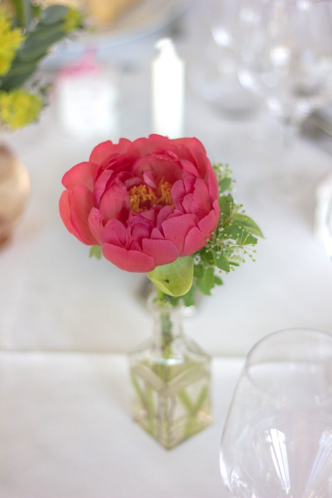 Wedding flowers coral sunset peony