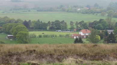 Goathland's cricket ground in the distance