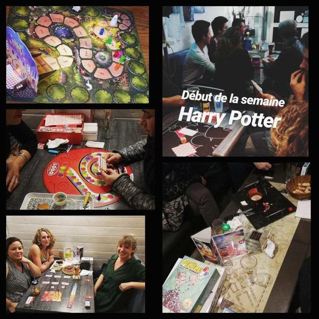 tables de jeux de société durant la semaine Harry Potter au Joker Bar