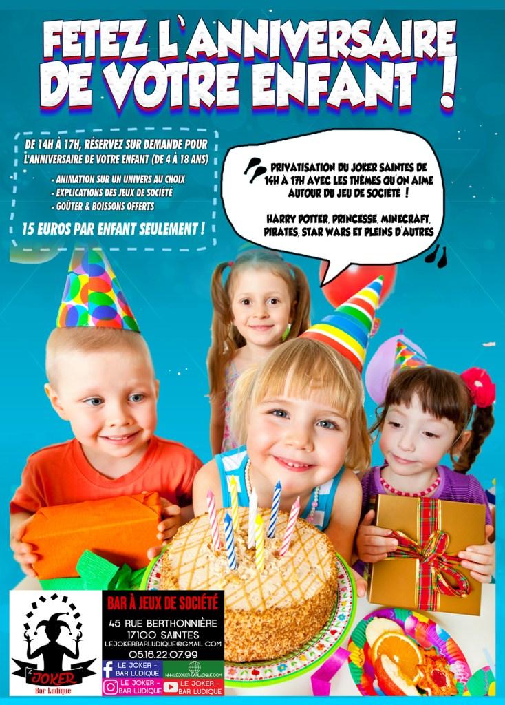 Child Birthday, sortir avec son enfant, flyer anniversaire enfant jeux de société