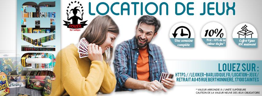 louez des jeux de société en cahrente-maritime à Saintes avec le joker Bar Ludique
