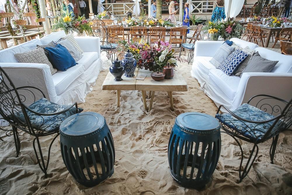 decoração de casamento pé na areia