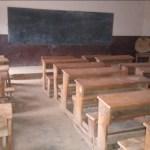 Une classe vide suite à la grève des enseignants à Uvira dans la Province du Sud Kivu