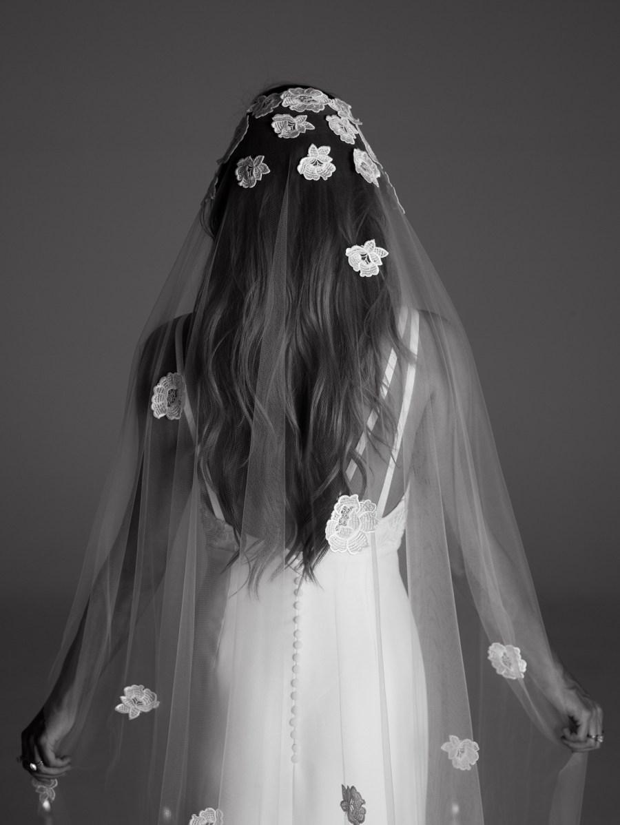 Rime Arodaky, bridal fashion, veil, French bridal couture