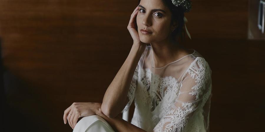 Laure de Sagazan, top and skirt, curvy bride