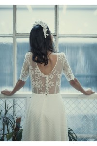 Laure de Sagazan, short wedding dress, bride to be, civil ceremony