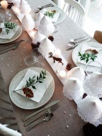 chemin-table-noel-deco-blanc-pinterest