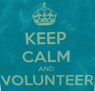 keep calm and volunteer