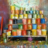 pots de peinture à Sarchi au Costa Rica