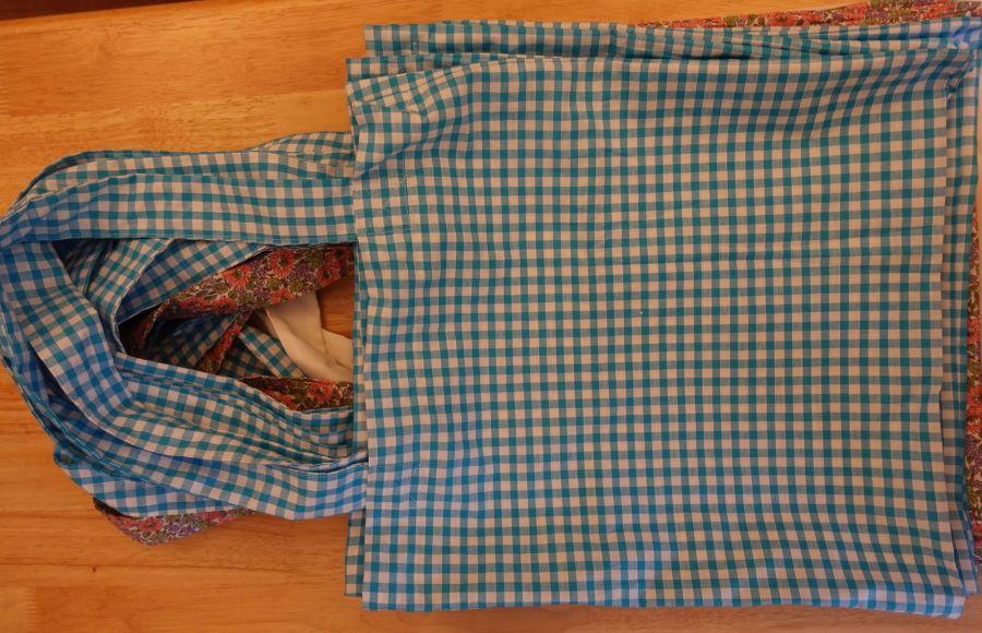 sacs cousus fait en rideaux récupérés