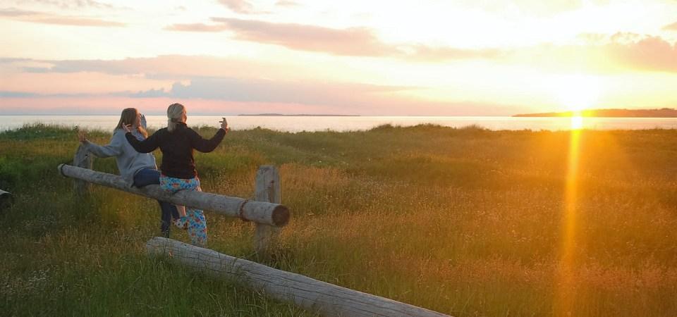 Solnedgang ved lejrskole Samsø Stavnsfjord