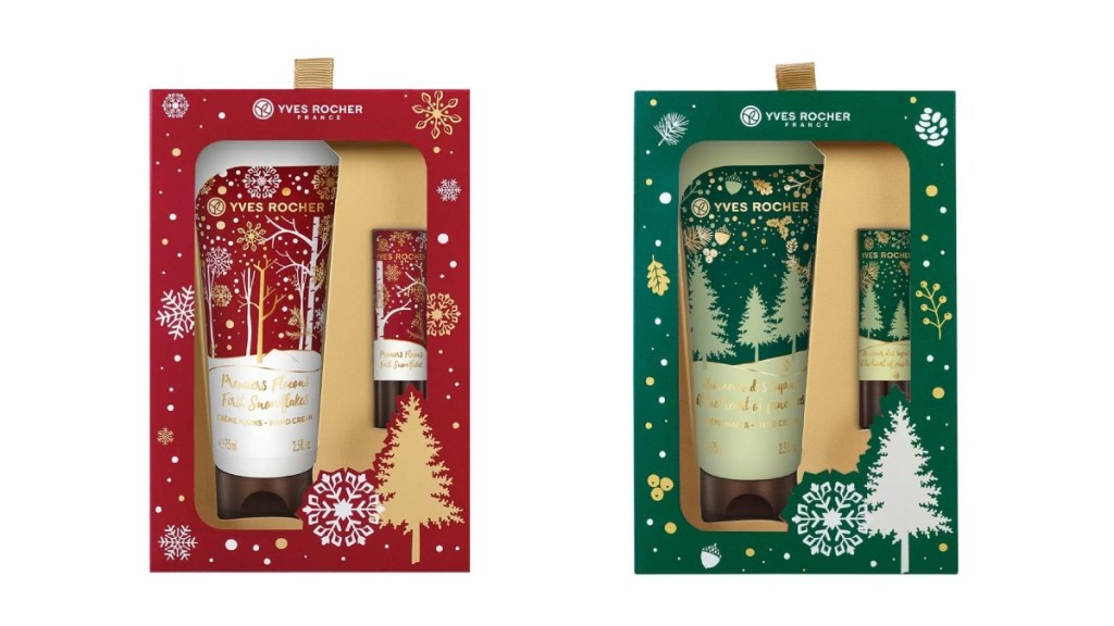 holiday packaging for Yves Rocher