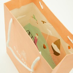 150g kraft paper bag with surprise inside-print and white rope handle
