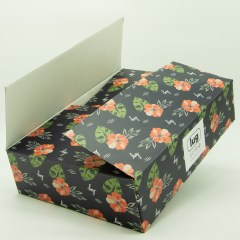Mailer-style shipping box with 1-layer corrugated paper, matte lamination and 4-colour outside print