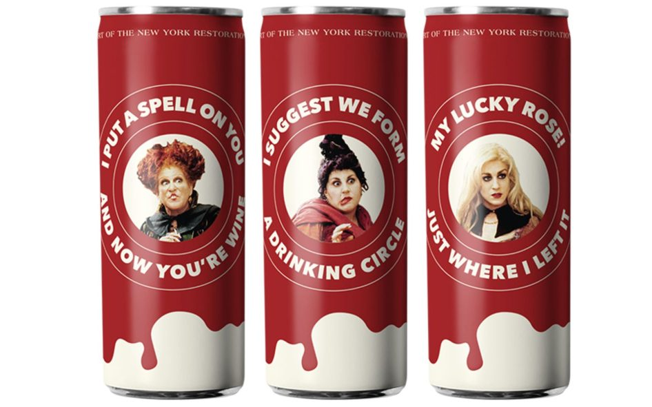 Besa mi Vino's canned wine packaging designs