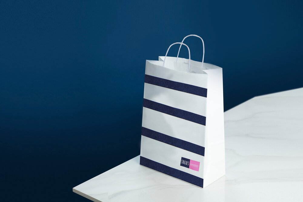This is a bag made from paptic - a sustainable packaging alternative to plastic.