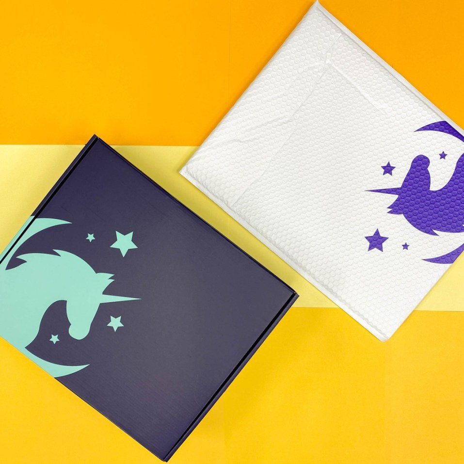 Overview of Unicorn Toys packaging