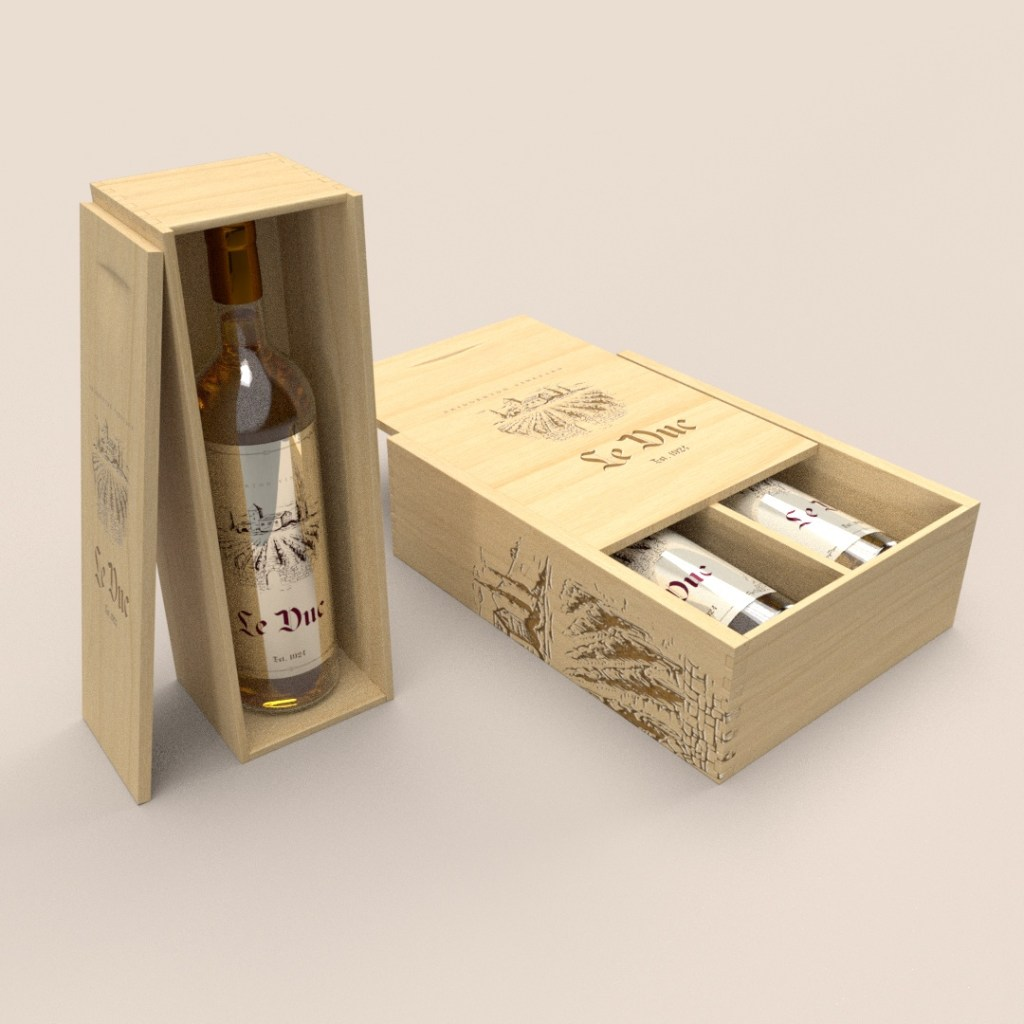 High-End Wooden Wine Box
