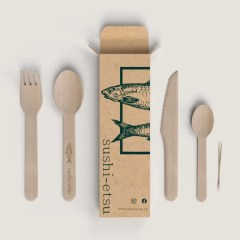 Brown Kraft folding carton with a one colour print. Use these boxes to store cutlery, napkins, toothpicks and more.