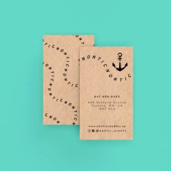 use brown Kraft business cards for a natural, eco-friendly look with no extra finishing