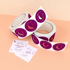 use a combination of shapes for your stickers and include foil add-ons to make stickers stand out
