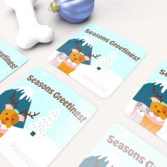 square greeting cards for the holiday season