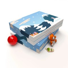 two closed advent calendars made with 400g paperboard and full colour full coverage prints