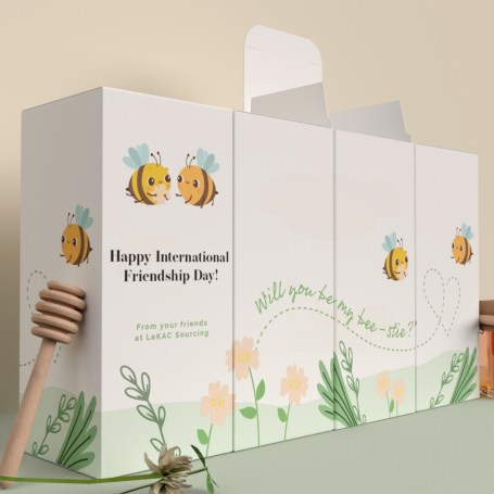 Custom box packaging by lekac for international friendship day. Lekac helps businesses avoid poor packaging decisions.