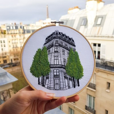 Rue Réaumur - Embroidery by Elin