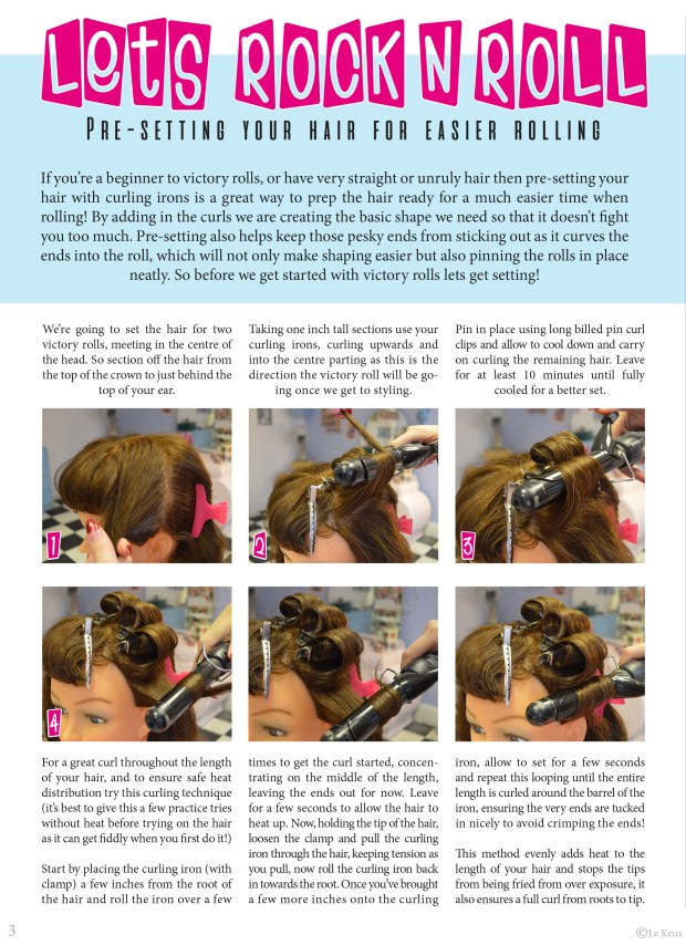 How to pre-set your hair for easier rolling for victory rolls and more. prepare your hair for vintage styling, le keux tutorial