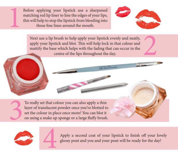 Long lasting vintage lipstick le keux tutorial